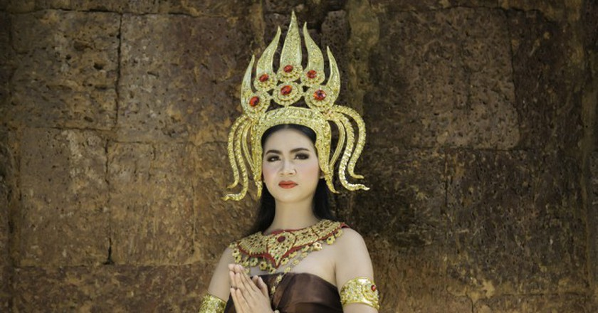 Apsara dancers form a strong part of Khmer culture