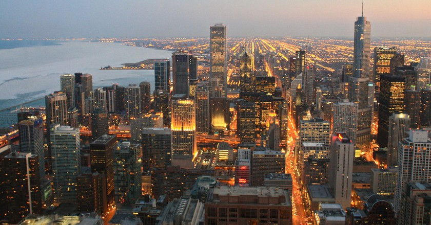 Chicago skyline view from the Signature Lounge | © Adam James / Flickr