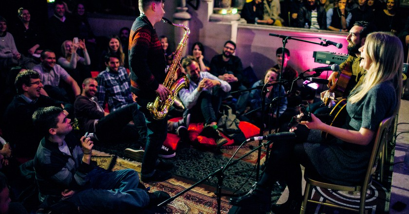 Retrospective at the House of St Barnabas: Live shots by Tom Oldham.