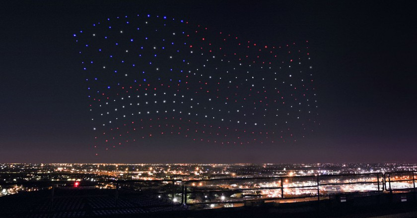 Intel's drones at Super Bowl LI | Courtesy Intel.