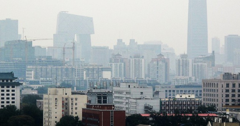 Beijing's Business District is frequently shrouded in smog | © Francisco Anzola / Flickr