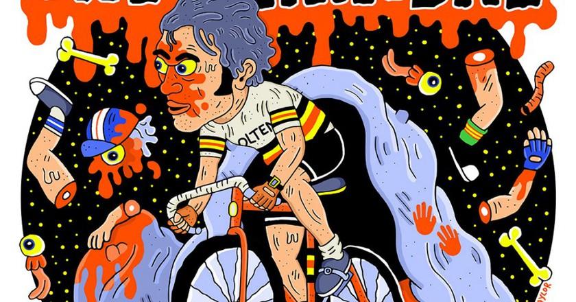 Eddy Merckx as The Cannibal.   © Sam Taylor