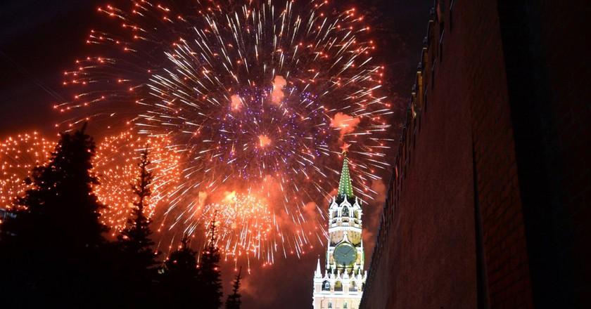 Festive fireworks | © kremlin.ru