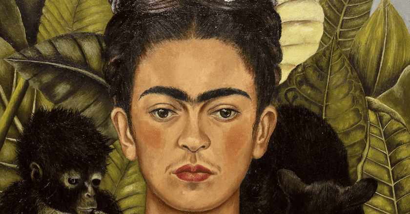 Frida Kahlo, Self-Portrait with Thorn Necklace and Hummingbird (1940) | © libby rosof/Flickr