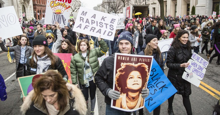 Women's March protesters. | © Amanda Suarez/Culture Trip