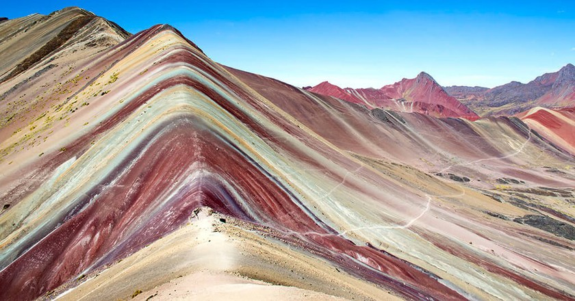 The Vinicunca, also know as the Rainbow Moutain ©Courtesy of Arturo Bullard