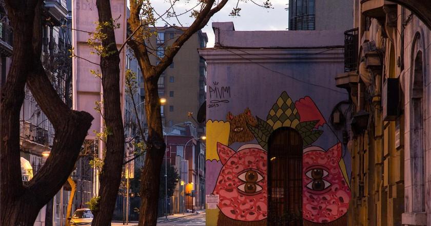 Serie de fotografías urbanas: amanecer en barrio Yungay © Carlos Reusser Monsalvez
