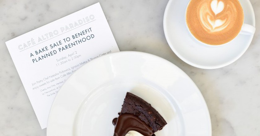 "Cafe Altro Paradiso announces its ""bake sale"""