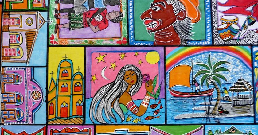 "<a href=""https://commons.wikimedia.org/wiki/File:Art_muralisme_Salvador_de_Bahia.jpg"" target=""_blank"">Art mural, Salvador, Bahia | © Serge Ouachée / Wikimedia Commons</a>"