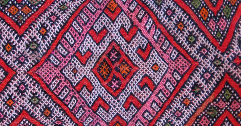 "<a href=""https://www.flickr.com/photos/53255320@N07/5338347185/"" target=""_blank"">Colourful woven Berber carpet</a> 