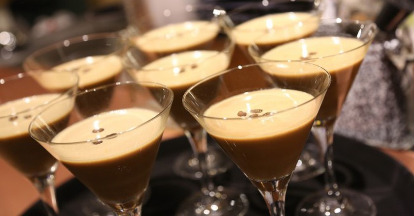Baileys cocktails, served at the Pop-Up Book Bar | Courtesy of Baileys Women's Prize for Fiction
