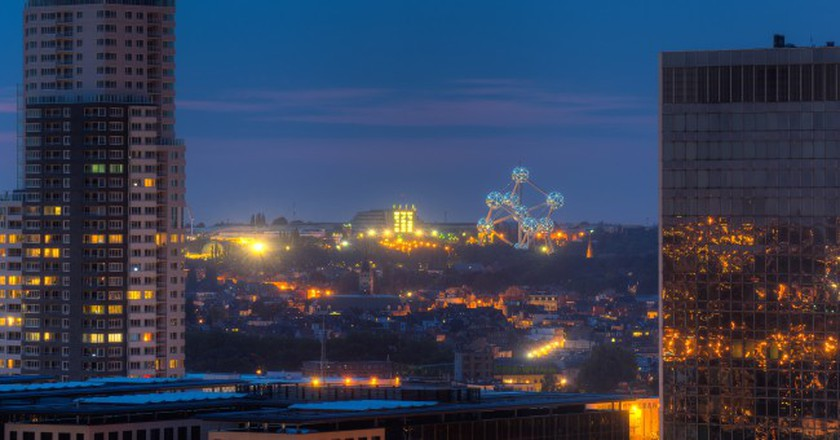 Brussels with its Atomium lit-up | © Gregorio Puga Bailón / Flickr