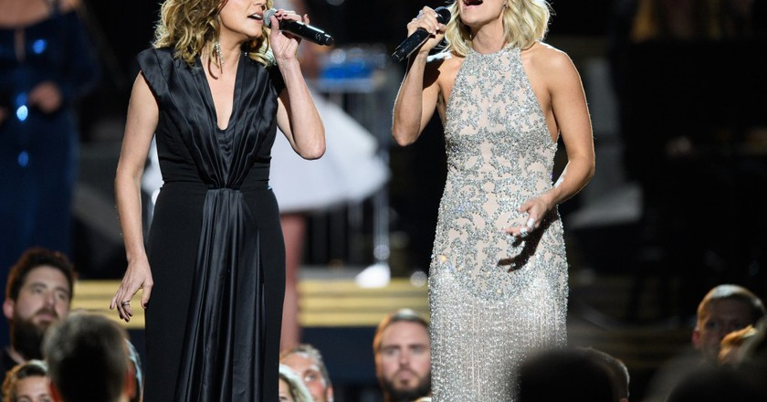 "<a href=""https://www.flickr.com/photos/disneyabc/30445618900/"" target=""_blank"">Martina McBride & Carrie Underwood | © Disney | ABC Television Group / Flickr</a>"