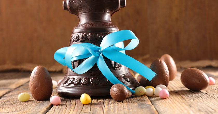The tradition of Easter chocolate bells is huge in France    Shutterstock