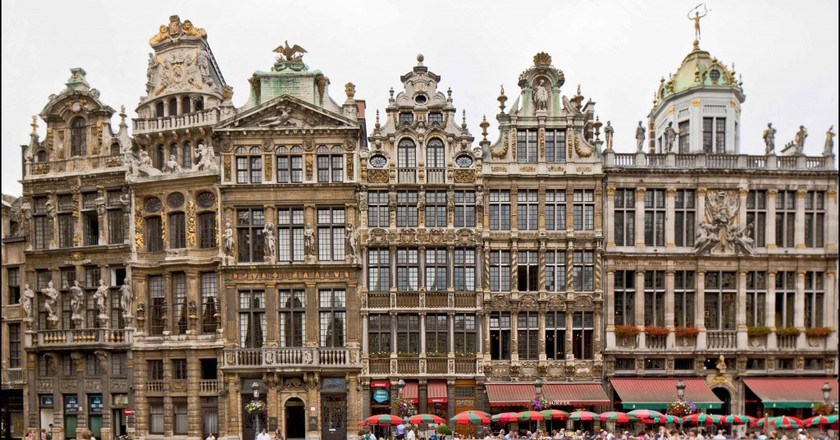 The guild houses on the famed Grand Place in Brussels, Belgium |  © E.Danhier / Courtesy of visitbrussels.be