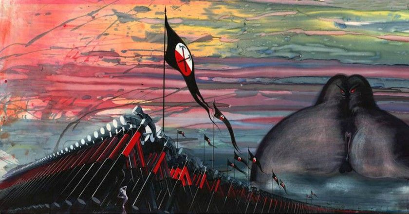 'Giant Judge & Hammers' © Gerald Scarfe