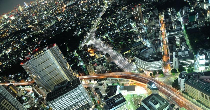 Aerial view of Ikebukuro at night | © nattou/WikiCommons