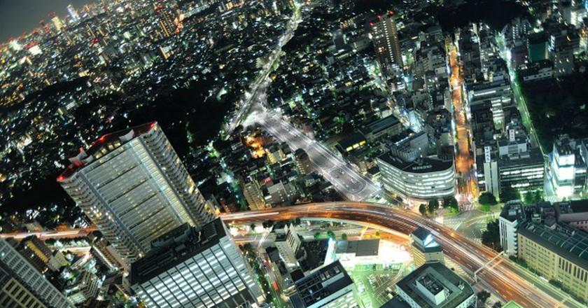 Aerial view of Ikebukuro at night   © nattou/WikiCommons