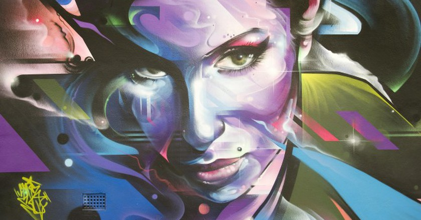 Mr Cenz's artwork can be seen in Lidlington Place | © Jewish Museum London