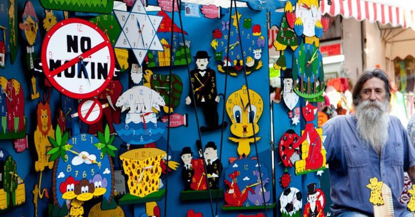 Colorful trinkets made by colorful folks at Tel Aviv's Arts and Crafts Market on Nahalat Binyamin | Israel Tourism, Flickr