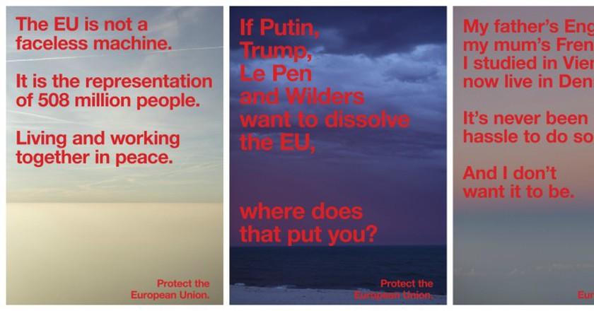 Protect the European Union posters | © Jop van Bennekom, Gert Jonkers, Wolfgang Tillmans