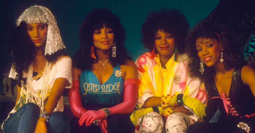 Joni Sledge (second from the right) with her sisters | ©  Philip Ide/REX/Shutterstock