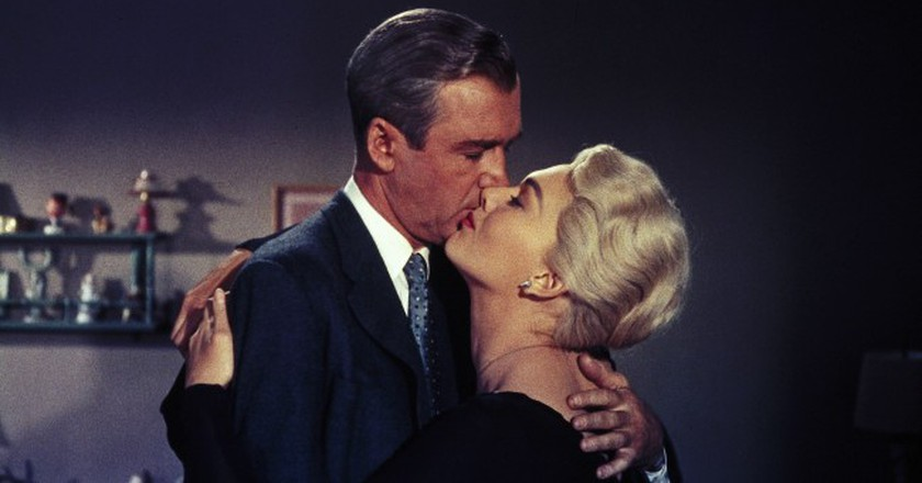 Kim Novak and James Stewart, in Vertigo (1958) | © Paramount / REX / Shutterstock