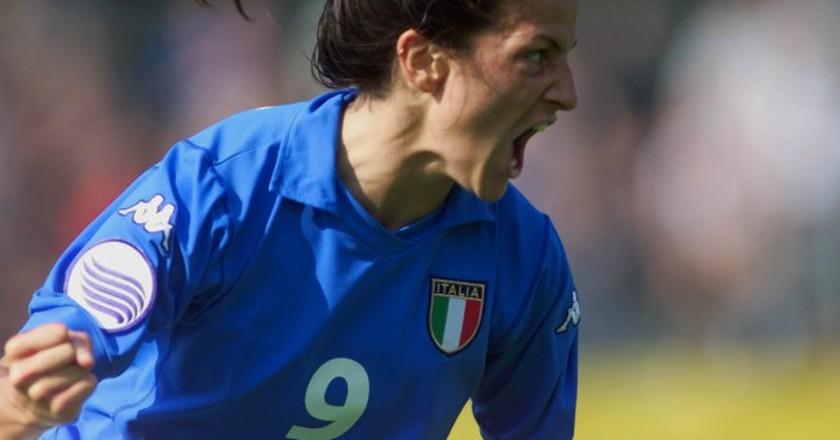 Patrizia Panico is Italy's all-time leading goal scorer   © THOMAS KIENZLE/AP/REX/Shutterstock