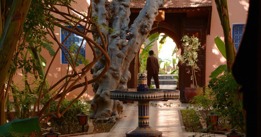 A traditional interior garden in a Moroccan riad | © Panegyrics of Granovetter / Flickr