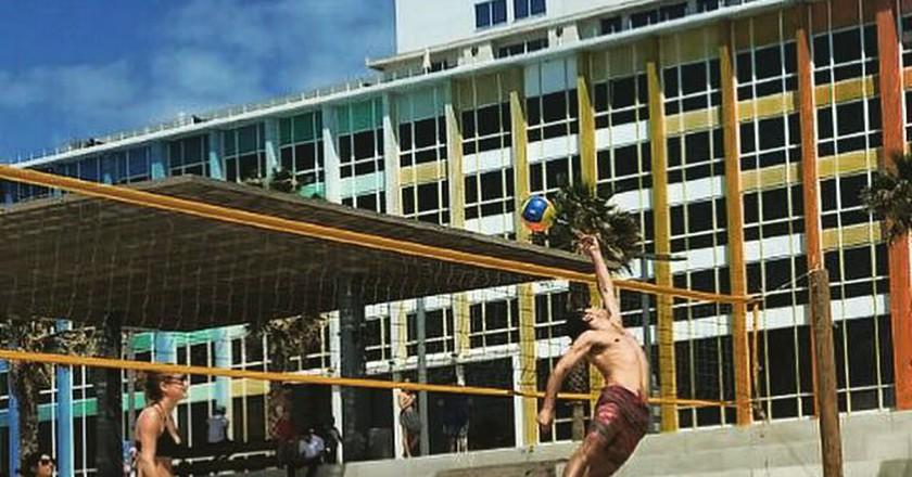 Israelis play volleyball on Tel Aviv's beach   Shay Bello, courtesy