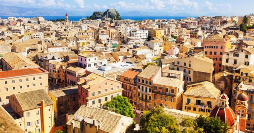 View of the Corfu town, Greece