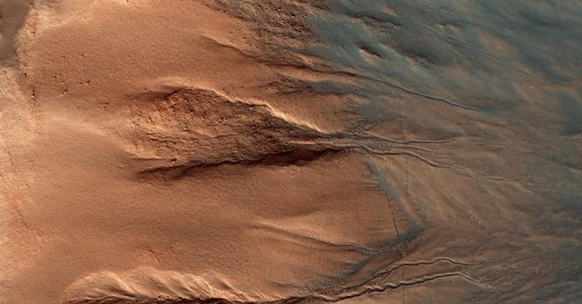 The surface of Mars.   Courtesy NASA/JPL-Caltech/Univ. of Arizona
