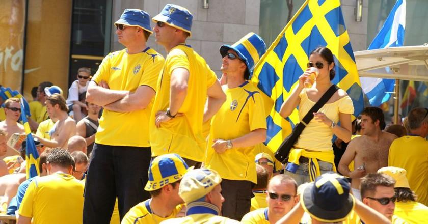 Swedish sports fans   © Wikipedia Commons