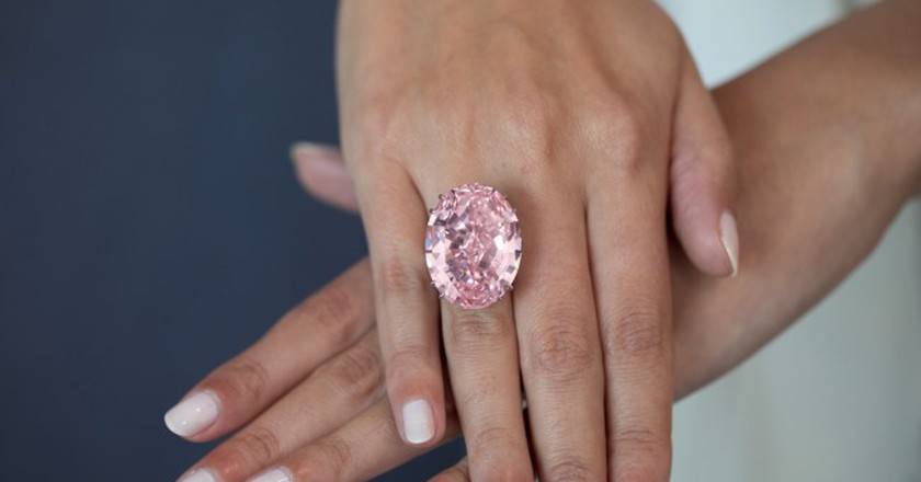 The Pink Star Diamond. Courtesy of Sotheby's