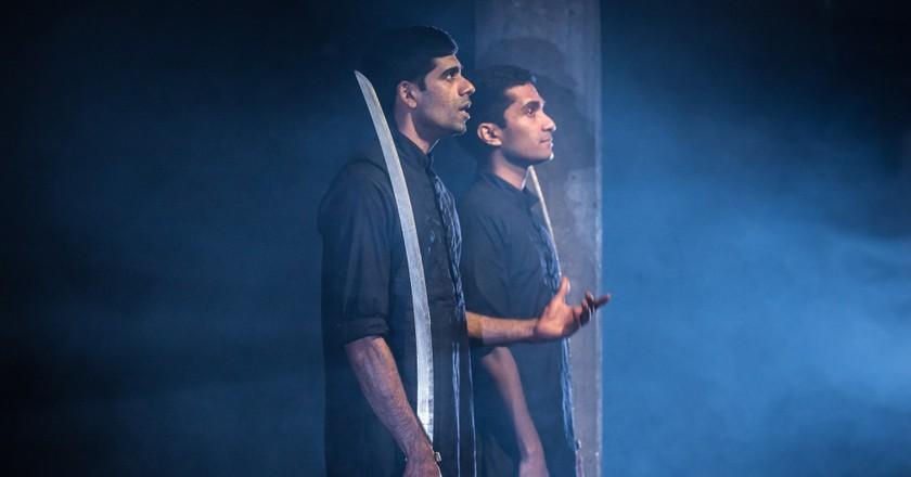 Darren Kuppan and Danny Ashok in Guards at the Taj Bush Theatre | © Marc Brenner