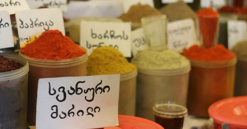 Spices sold at the Tbilisi market   © Sarah May Grunwald