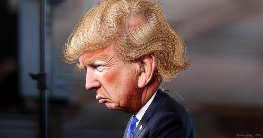 Donald Trump - Caricature | © DonkeyHotey/Flickr