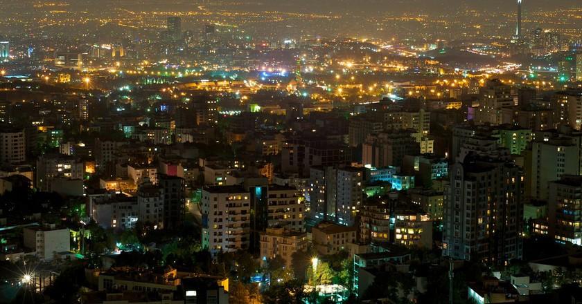The evening skyline of Tehran | © Babak Farrokhi / Flickr