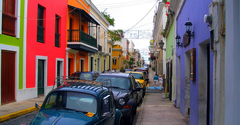 Colorful buildings in an Old San Juan street | © Bogdan Migulski/ Flickr