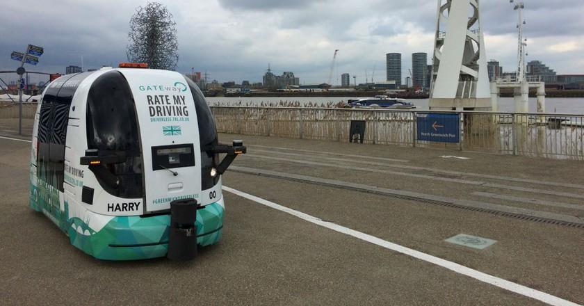 GATEway shuttle trials underway   Courtesy Oxbotica
