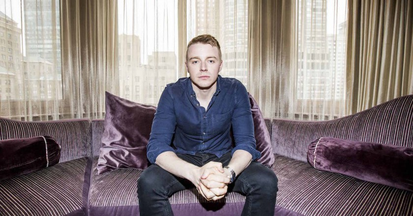 Jack Lowden at a press event for 'Tommy's Honour'