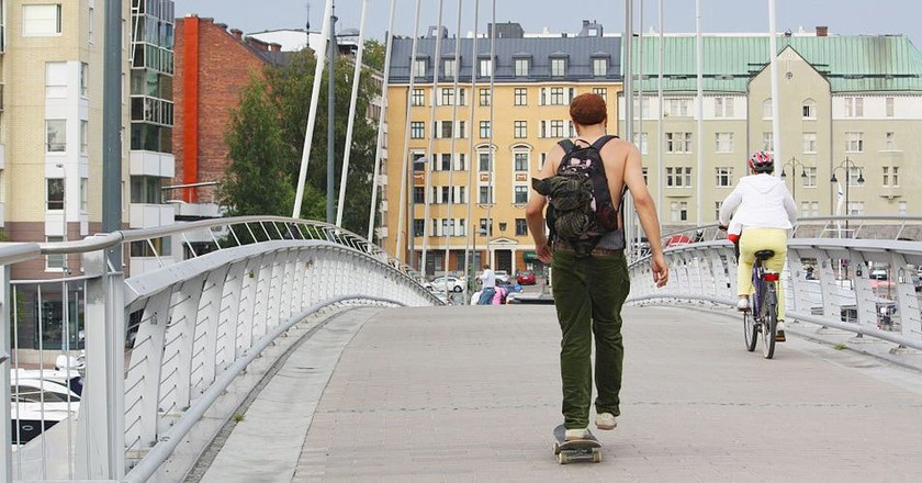 Skating in Tampere, Finland | © Anneli Salo/WikiCommons