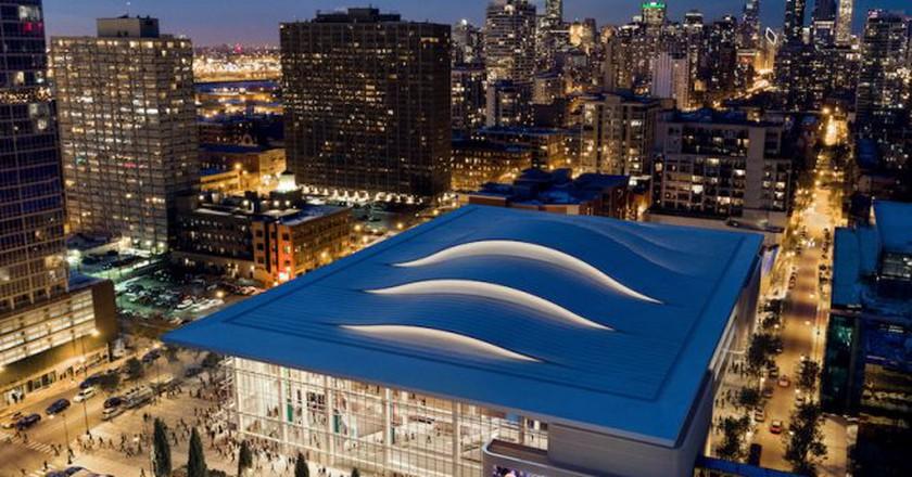 Wintrust Arena at McCormick Square | Courtesy of Pelli Clarke Pelli Architects