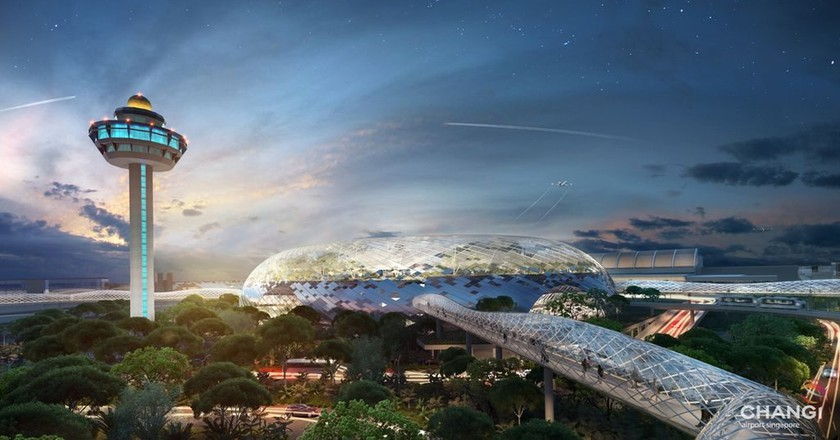 Changi Airport's newest terminal to be opened in early 2019   Courtesy of Jewel Changi Airport Development