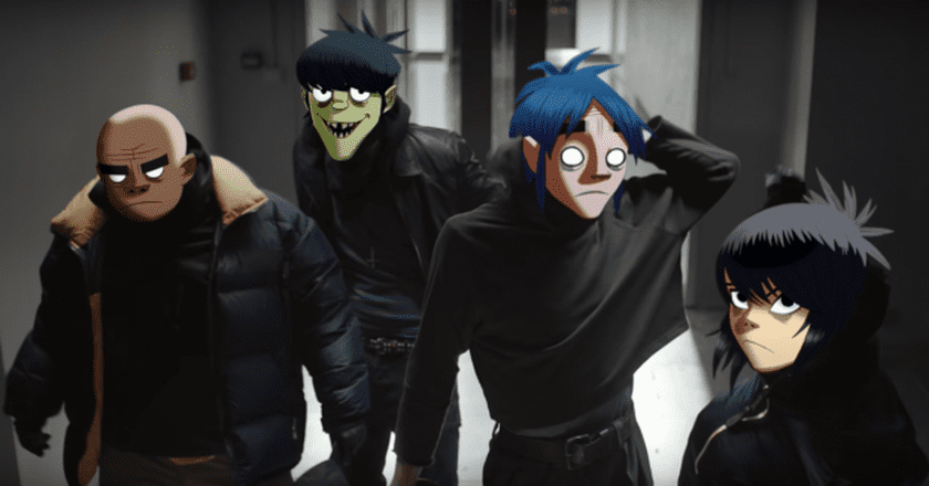 Screenshot from the Lenz app commercial | © YouTube/Gorillaz