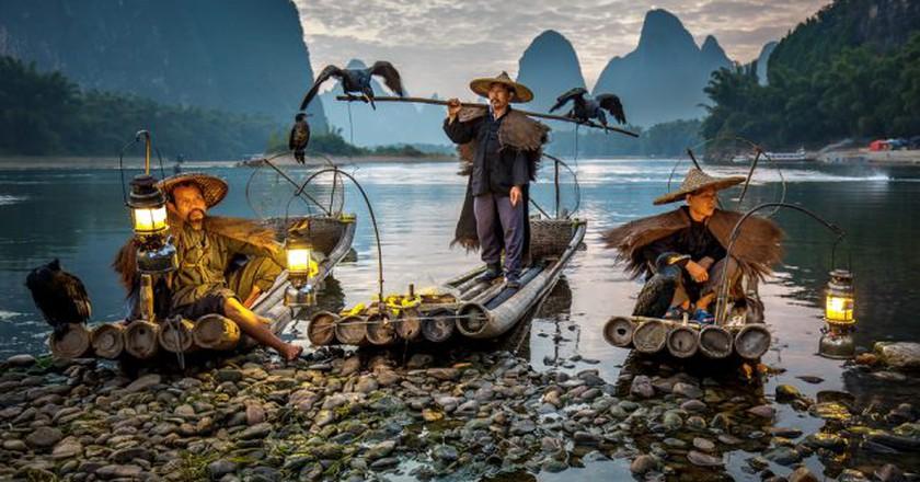Cormorant fishermen on the Li River in Xing Ping  | © Vadim Petrakov