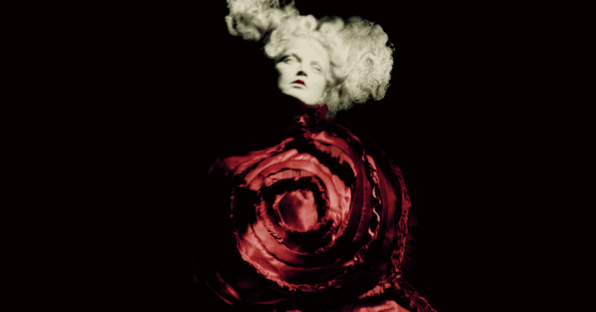 Rei Kawakubo for Comme des Garçons, 'Blood and Roses' (detail), spring/summer 2015 | © Paolo Roversi/Comme des Garçons; Courtesy of The Metropolitan Museum of Art