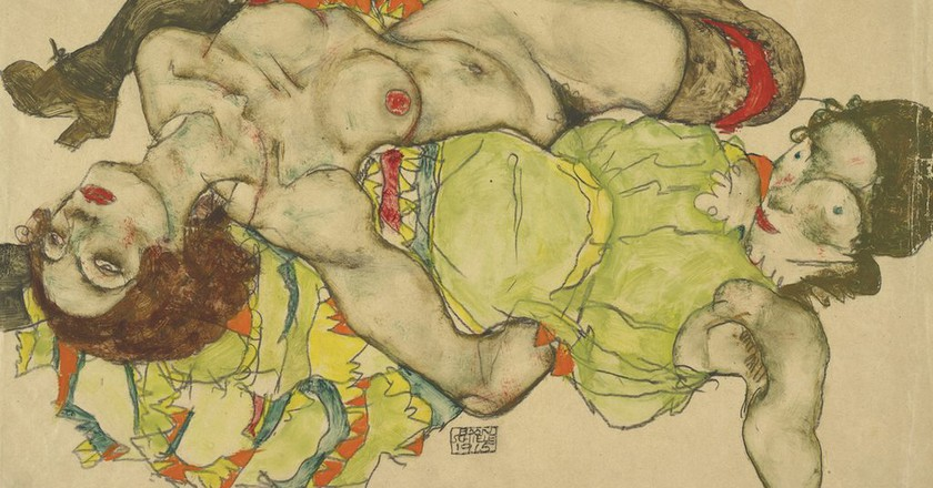 Egon Schiele Female couple, 1915 | Courtesy of the Albertina, Vienna