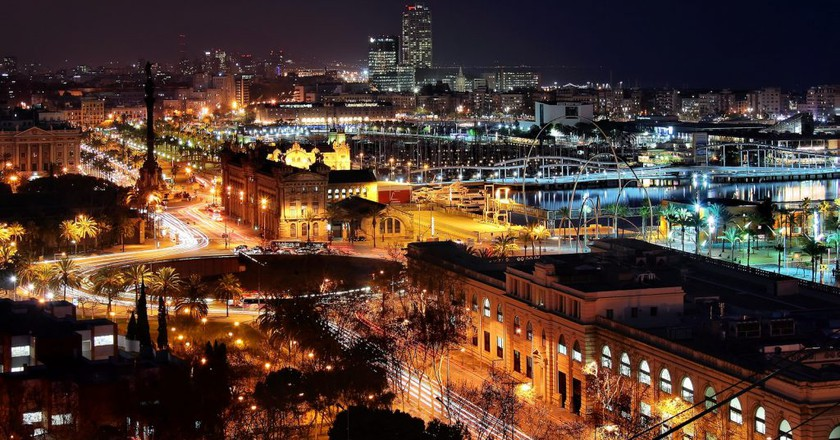 Barcelona at night | © Jorge Franganillo / Flickr