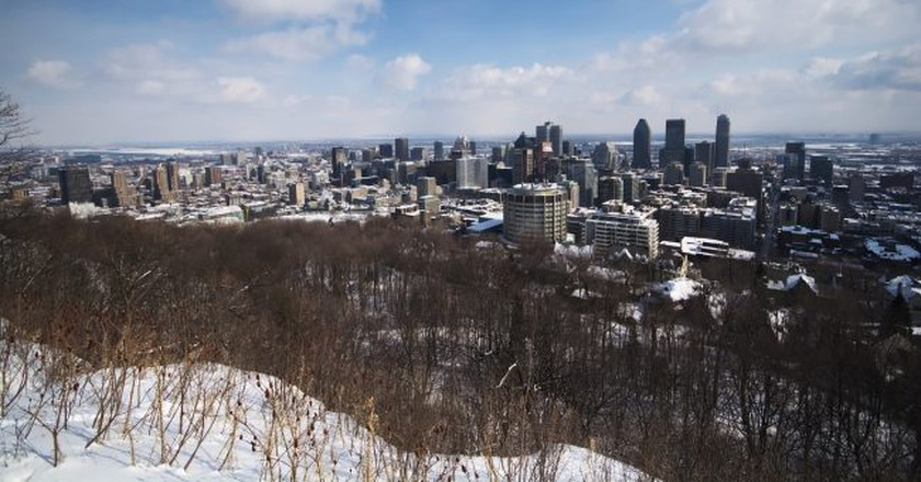 Montreal's skyline, as seen from Mont-Royal | © Maëlick / Flickr